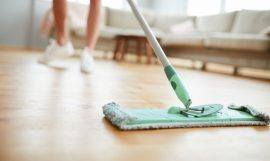 clean parquet floor
